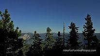 San Bernardino peak, Mt. Baldy, San Antonio, Hollywood sign hike topo map