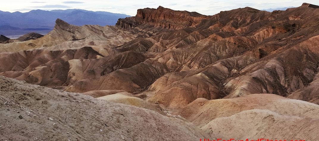 Zabriske point hike, Death valley