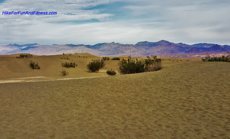 Death valley, hike for fun and fitness, Mesquite sand dunes hike, california hike