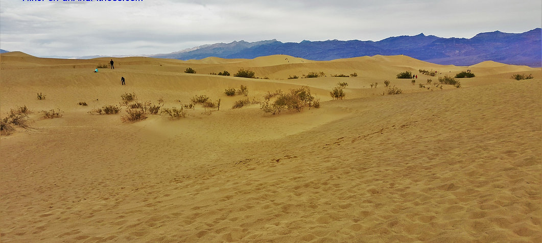 Mesquite sand dunes hike, Death valley
