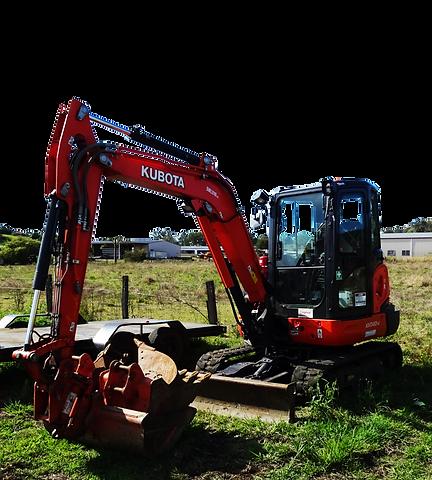 Kubota earth moving equipment
