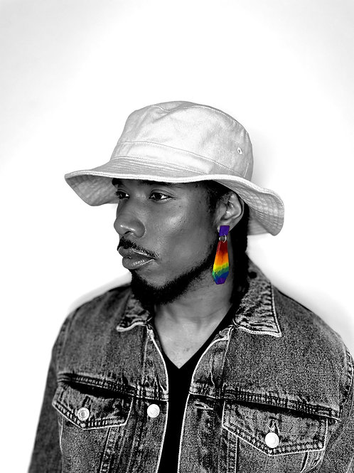 Statement Ombre Pride Earrings