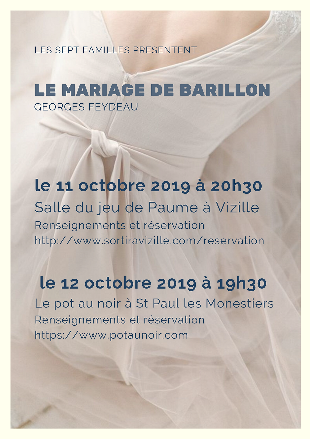 Le mariage de Barillon Feydeau création