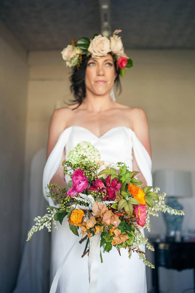 Jess in her wedding dress