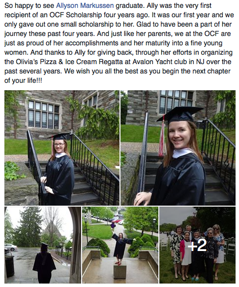 First Scholarship Recipient Graduated
