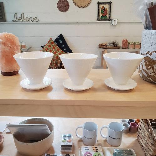 White Ceramic Pour Over
