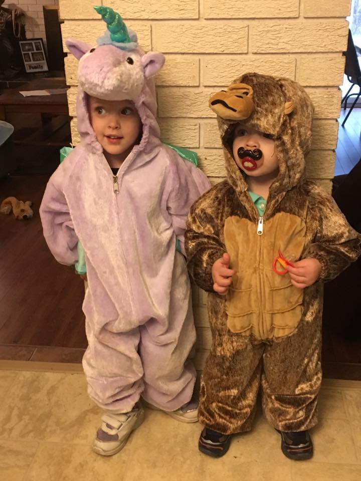 Maci the unicorn, Jacob the gorilla 2016