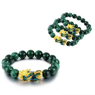 Golden PIXIU Abundance Protection and Wealth Jade Bracelet