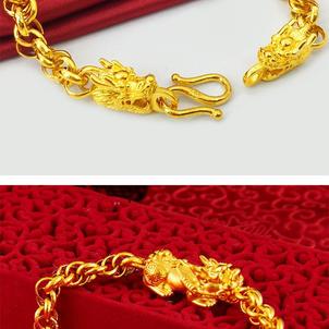 Fortune Auspicious Pixiu Dragon Luxury Bracelet
