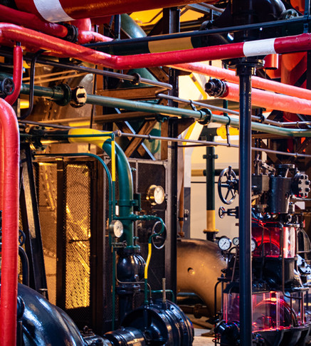 red-and-gray-industrial-machinery-256984