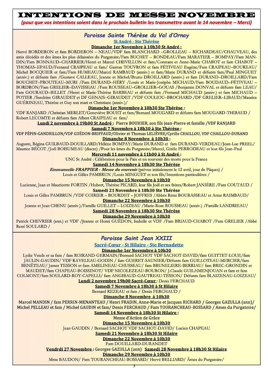 Bulletin Interparoissial  de Novembre3