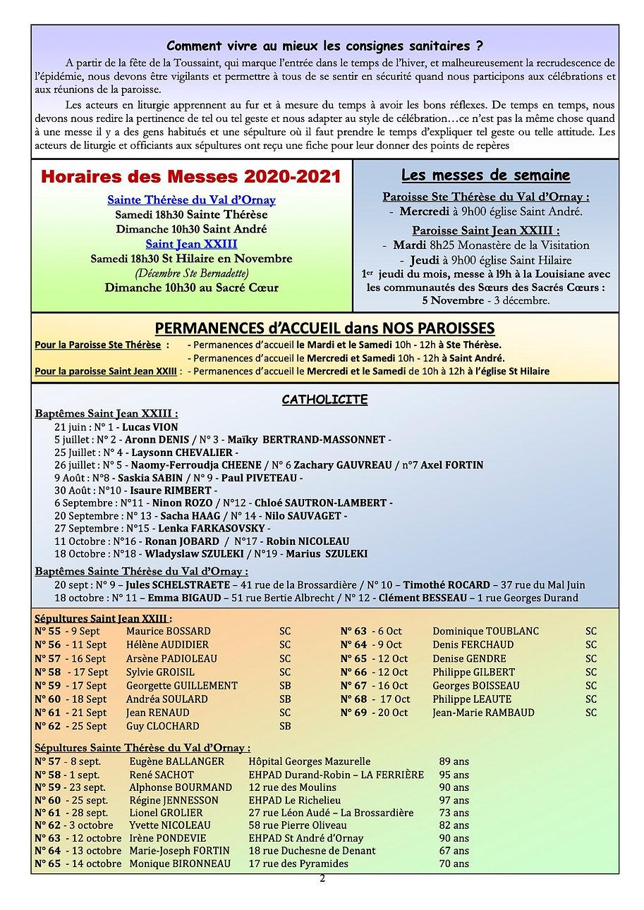 Bulletin Interparoissial  de Novembre.