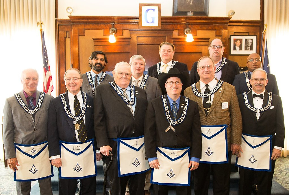 2017 - 2018 Officers of Tannehill Masonic Lodge