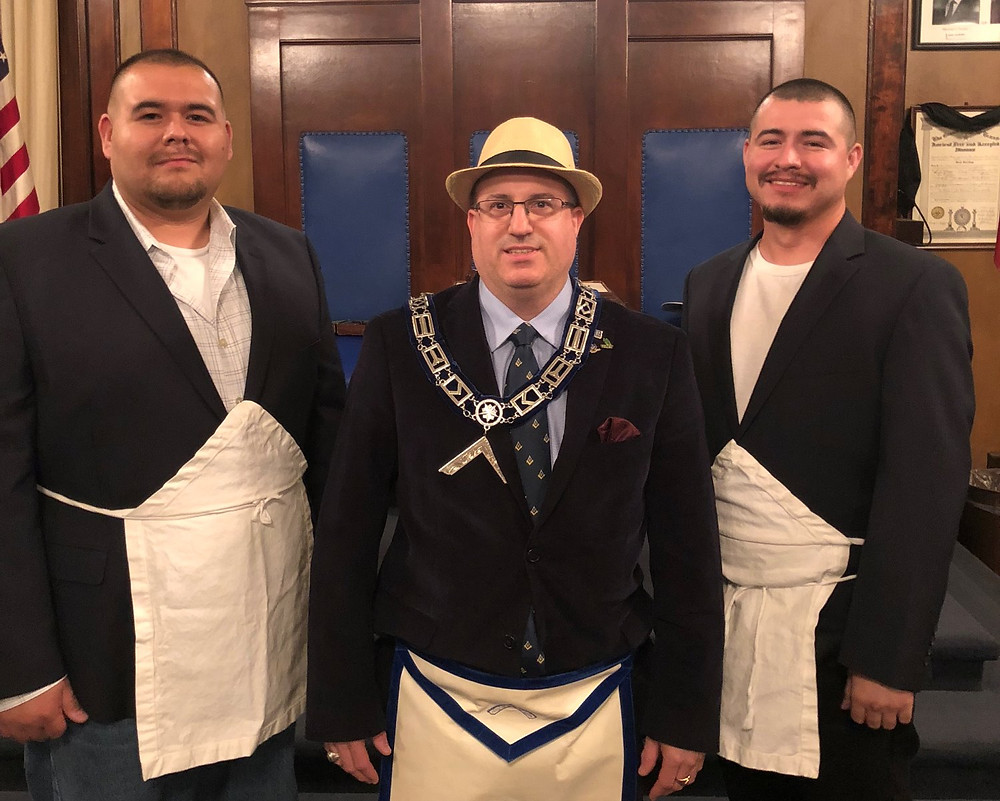 New Brothers with WM Tim Burke