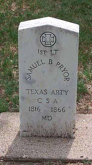 Samuel B. Pryor Grave | Masons of Dallas