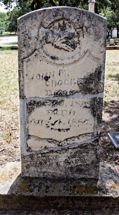 John M. Crockett Gravestone