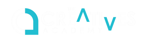 The Creatives Academy Logo wide BLUE and