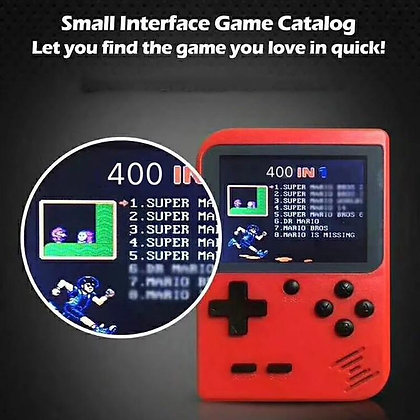 Retro Game-Box with 400 Built-In Games