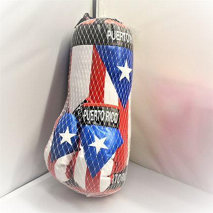Puerto Rico Kids Punching Bag & Gloves