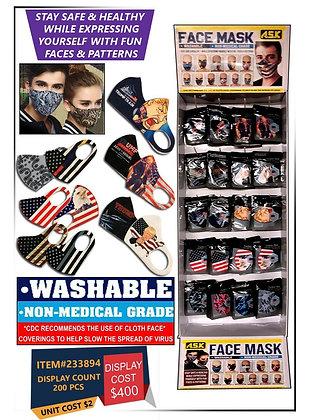 Washable Face Masks ( TRUMP FACE MASKS, USA FLAG FACE MASKS, & DESIGNER FACE MAS