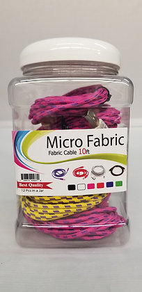 Premium Micro Fabric Data Cable Jar