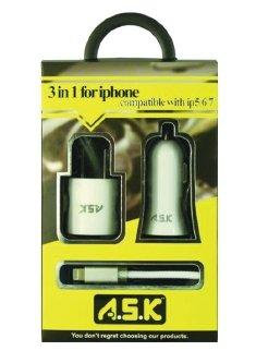 A.S.K iPhone Hi-Speed Charger 3in1