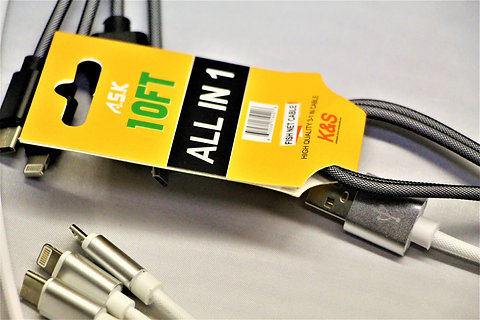 A.S.K 10ft All-in-One Fishnet Cable