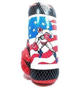 Captain America Kids Punching Bag & Gloves