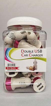 Double USB Car Adapter Jar
