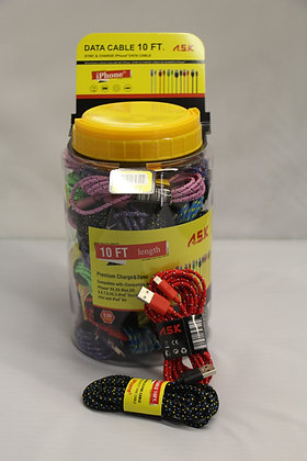 A.S.K 10ft iPhone Data Cables 30CT Display