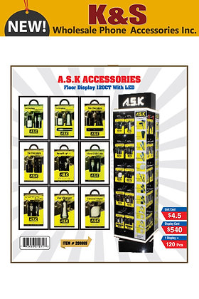A.S.K ACCESSORIES FLOOR DISPLAY 120CT WITH LED
