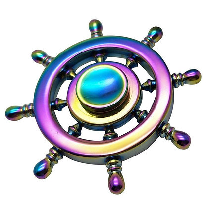 Rainbow Metal Fidget Spinner