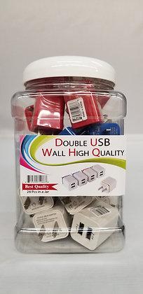 Double USB Wall Adapter Jar