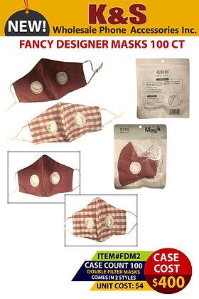 FANCY DESIGNER MASKS 100 CT