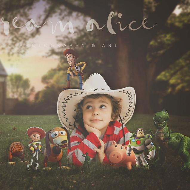 Toy story. Creative Children's Photography fantasy photoshoot, Dream Alice Photography & Art, Gold Coast