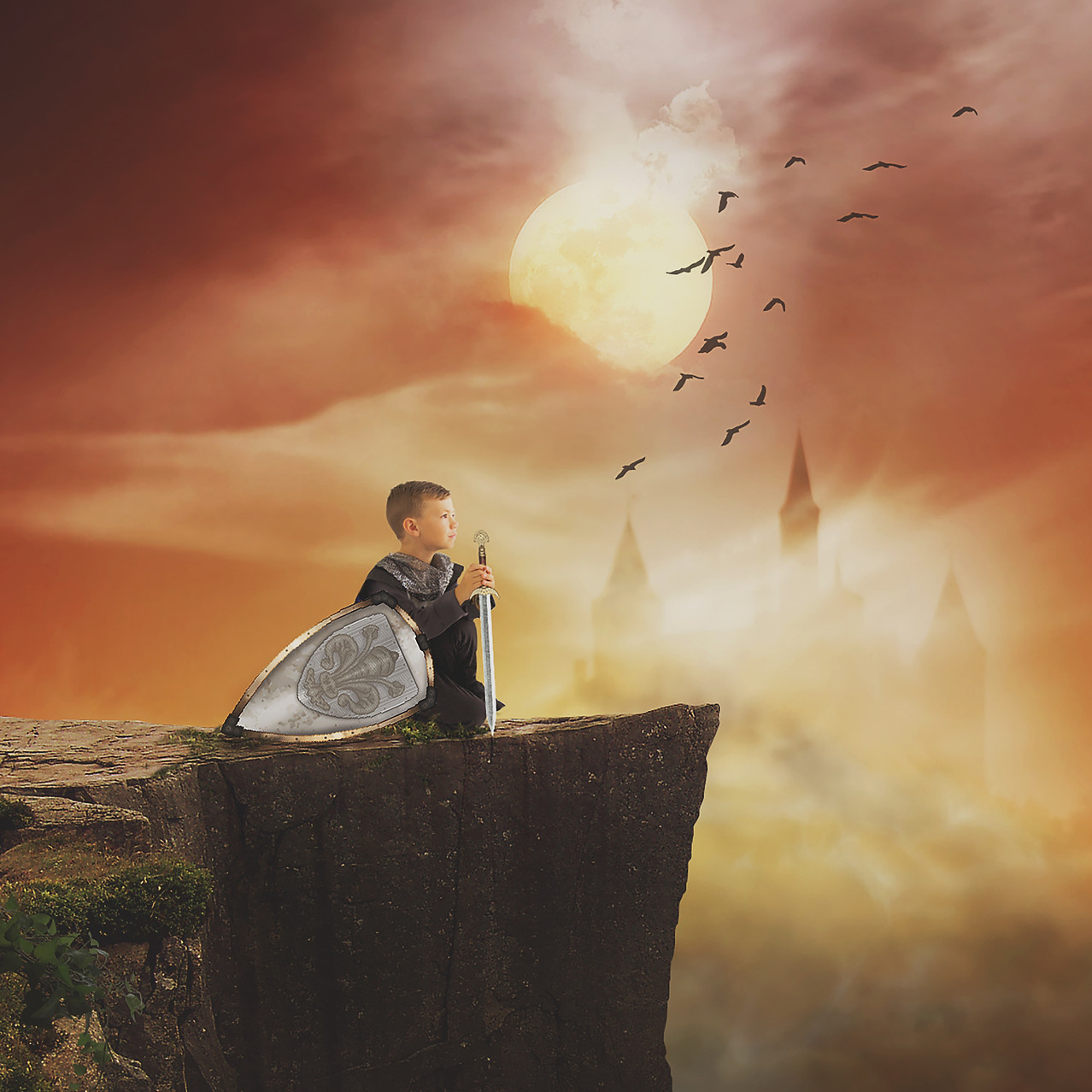 Knights tale. Creative Children's Photography fantasy photoshoot, Dream Alice Photography & Art, Gold Coast