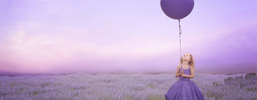 Purple Balloon. Creative Children's Photography fantasy photoshoot, Dream Alice Photography & Art, Gold Coast