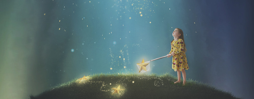 Ruby and stars. Creative Children's Photography fantasy photoshoot, Dream Alice Photography & Art, Gold Coast