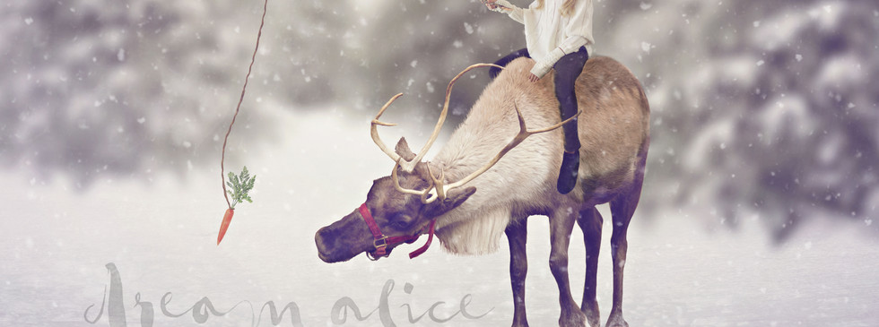 Rheindeer Ride. Christmas Children's Photography fantasy photoshoot, Dream Alice Photography & Art, Gold Coast