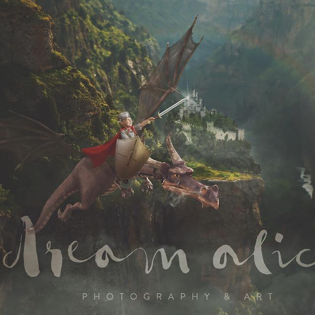 Knight and dragon. Creative Children's Photography fantasy photoshoot, Dream Alice Photography & Art, Gold Coast