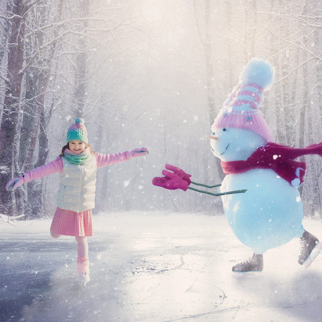 Skating Snowman. Christmas Children's Photography fantasy photoshoot, Dream Alice Photography & Art, Gold Coast