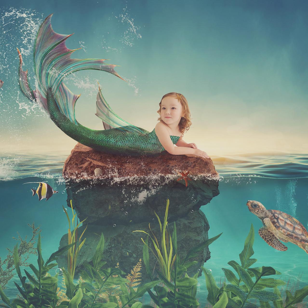 Mermaid Girl. Creative Children's Photography fantasy photoshoot, Dream Alice Photography & Art, Gold Coast