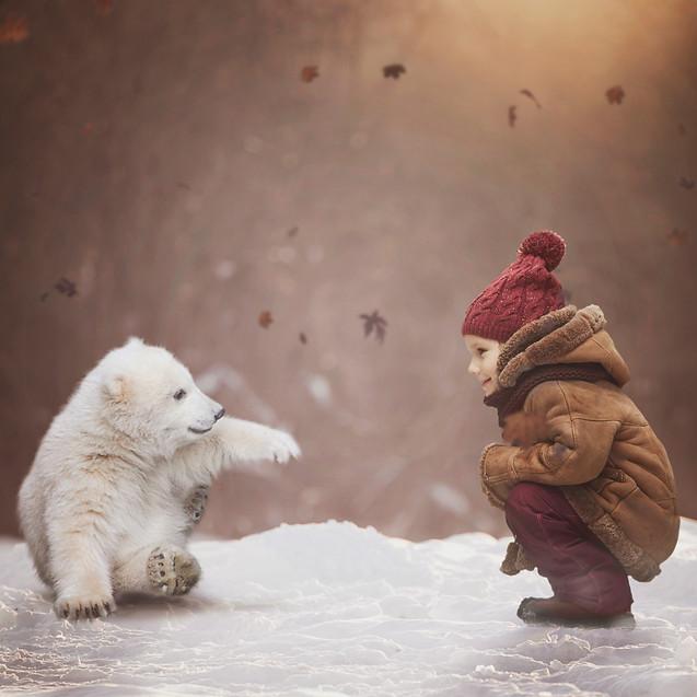 polar Play. Creative Children's Photography fantasy photoshoot, Dream Alice Photography & Art, Gold Coast