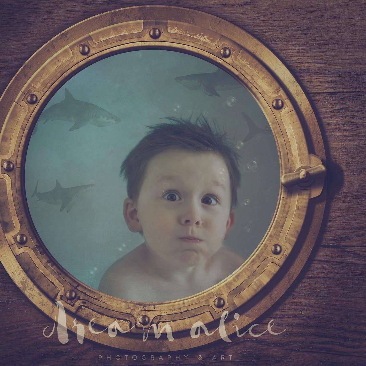 Hold your Breath. Creative Children's Photography fantasy photoshoot, Dream Alice Photography & Art, Gold Coast