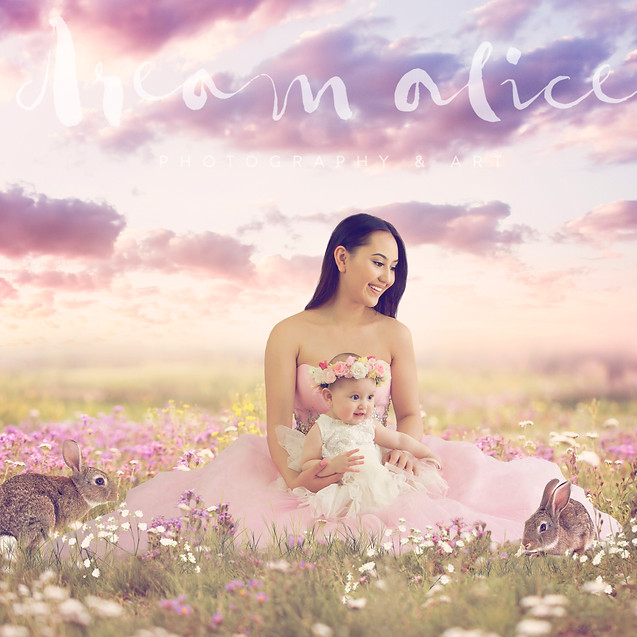 Mother & Child. Creative Children's Photography fantasy photoshoot, Dream Alice Photography & Art, Gold Coast