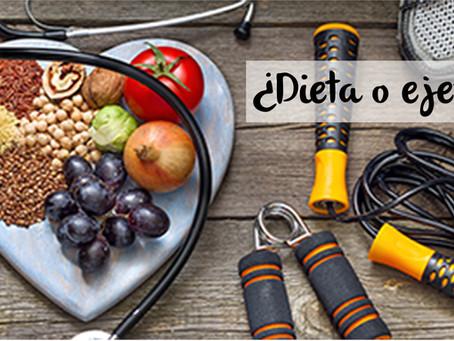 ¿Que es mas importante la dieta o el ejercicio?