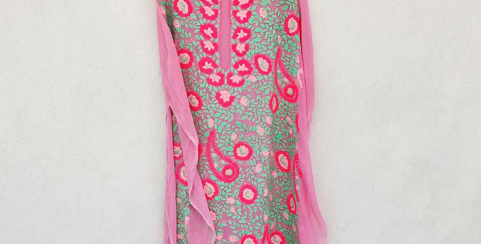 Pink Phulkari Kurta
