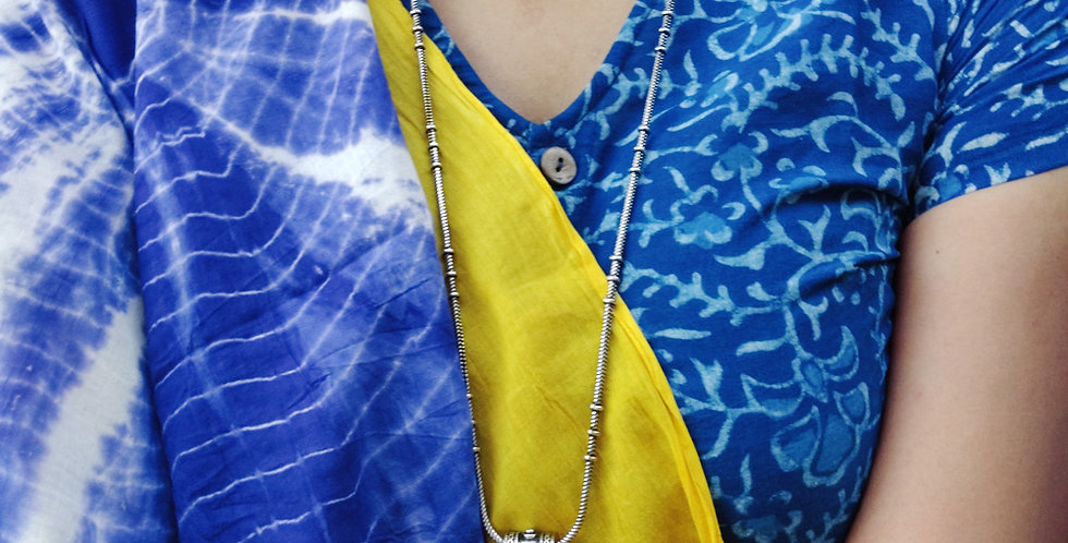 Yellow Tie Dye Mul Cotton Saree