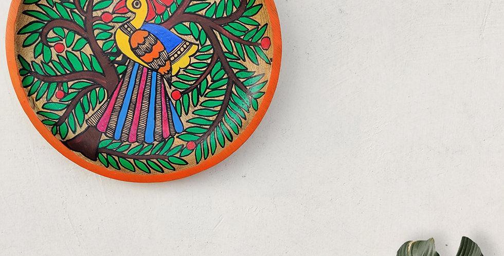 Mayur Madhubani Wall Plate