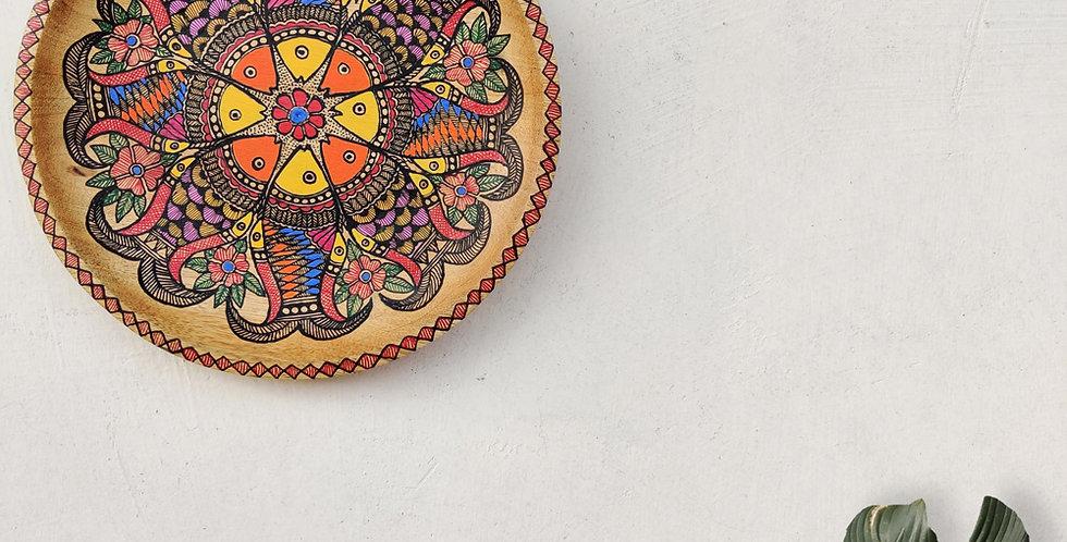 Matsya Madhubani Wall Plate